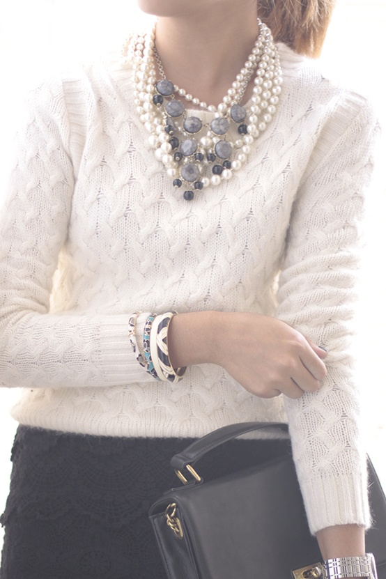Lovely Sweater and Necklace