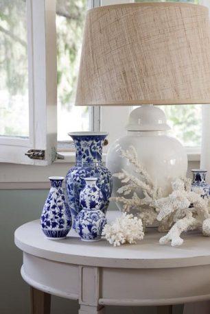 Lovely Blue and White Ginger Jars and Ocean Decor