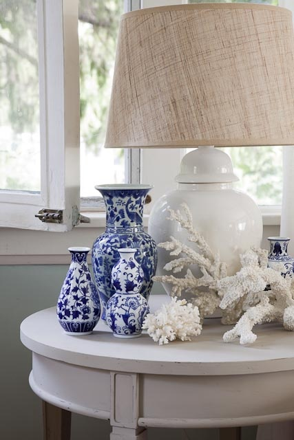 Lovely Blue and White Ginger Jars and Ocean Decor
