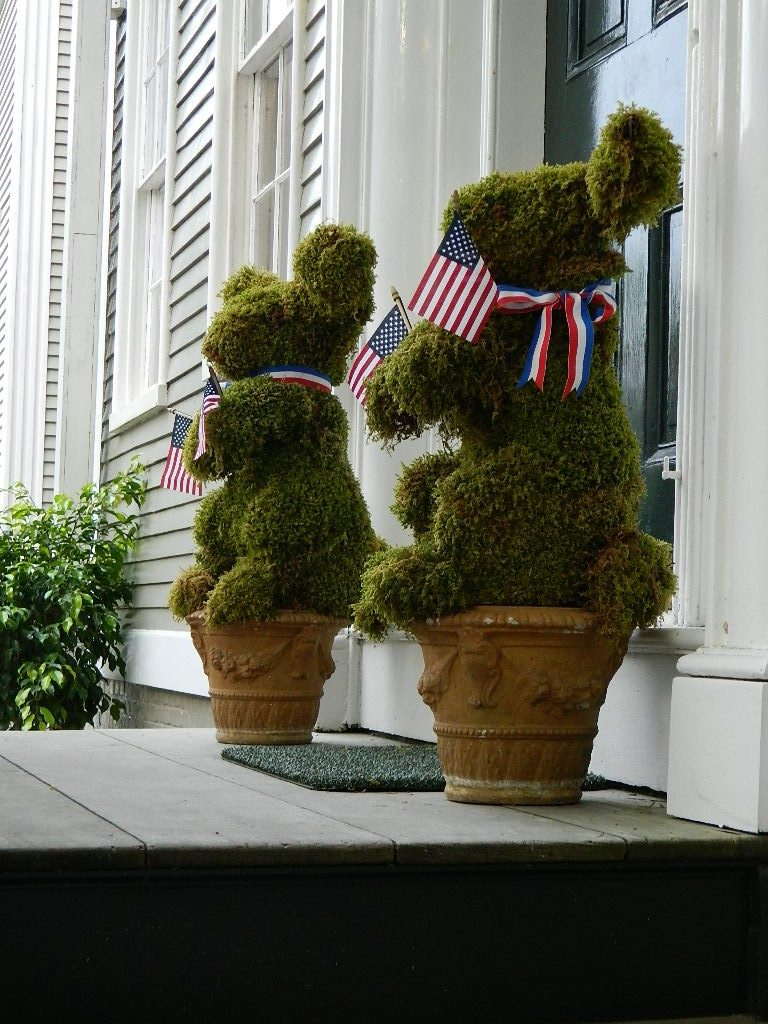 Patriotic Topiaries