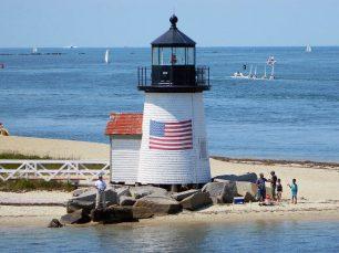 Rounding Brant Point Lighthouse