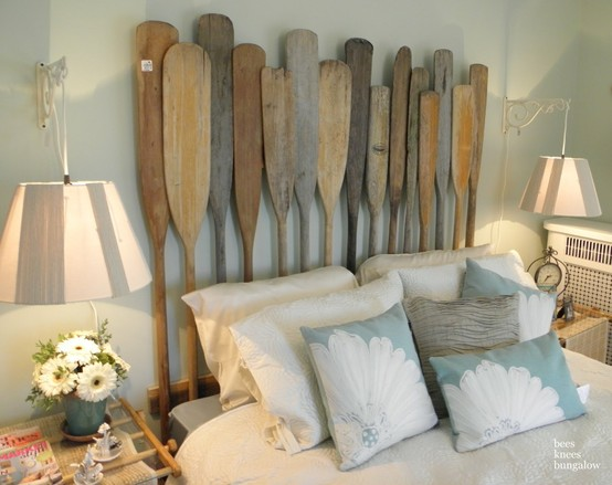 DIY Oar Headboard