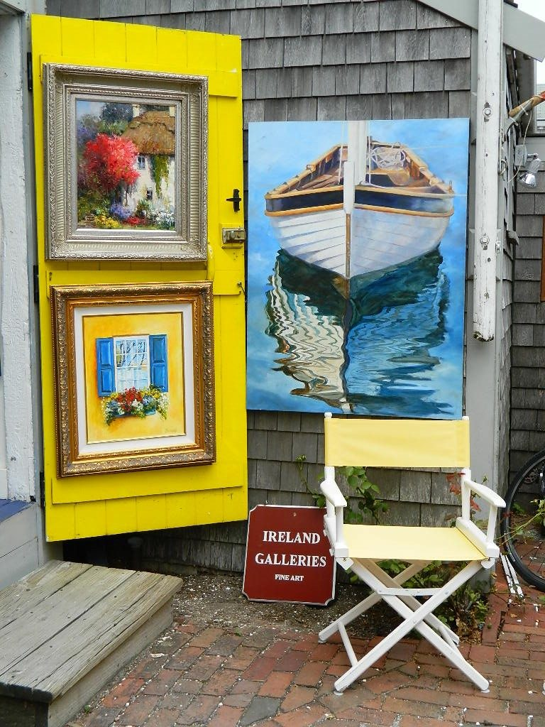 Gallery with Lovely Yellow Door