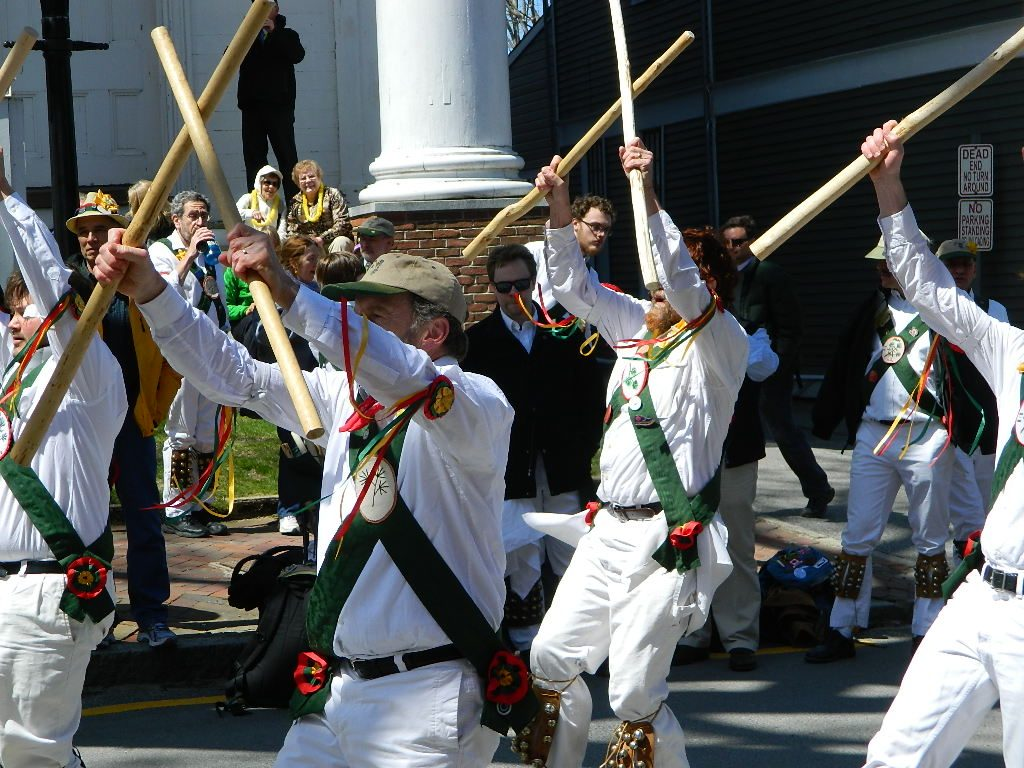English Stick Dancers Entertain