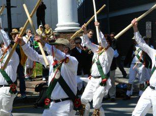 English Stick Dancers Entertain