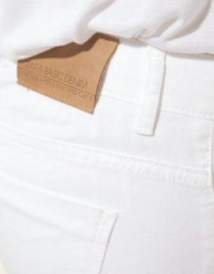 #Zara White Jeans