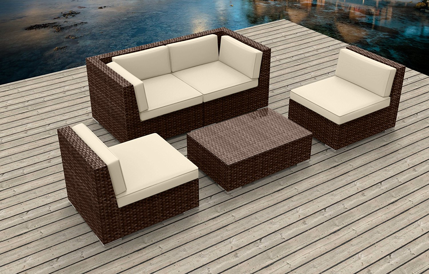 Modern Outdoor Backyard Wicker Rattan Patio Furniture