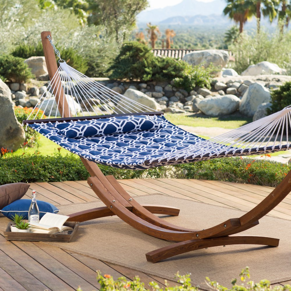 standing with large bentley wooden two stand extra frame arc hammock free person charles