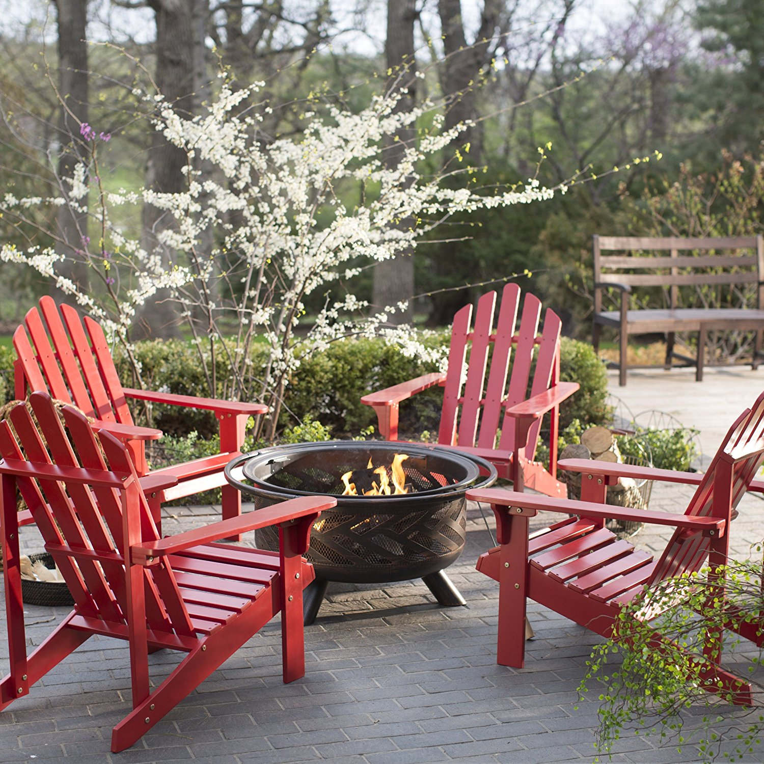 Outdoor Fire Pit Chat Furniture Set Pleasant Bay ...