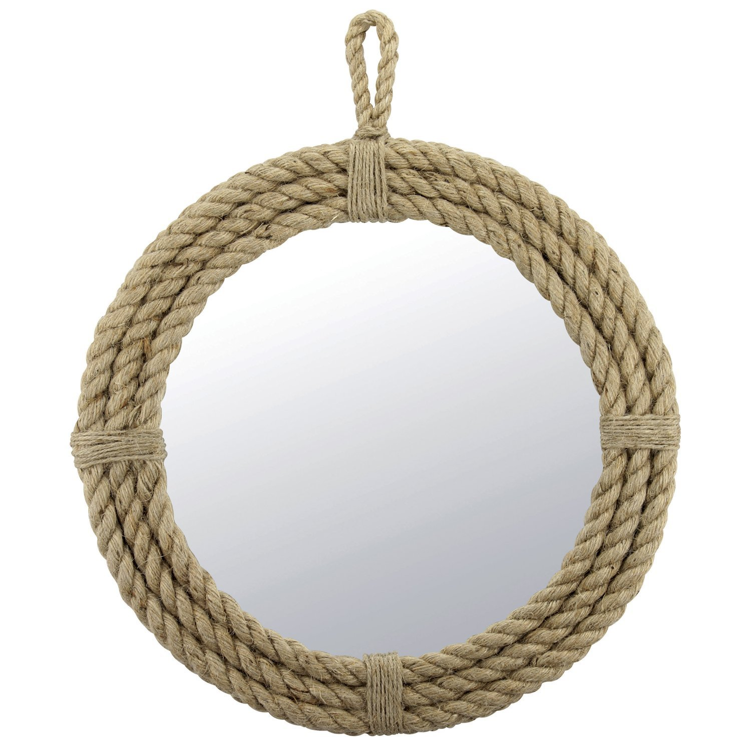 round mirror with rope Stonebriar Small Round Wrapped Rope Mirror From Amazon round mirror with rope